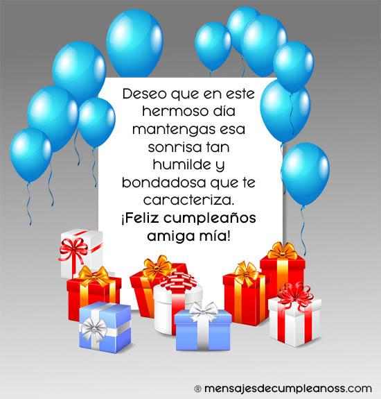 nota cumpleaños amiga