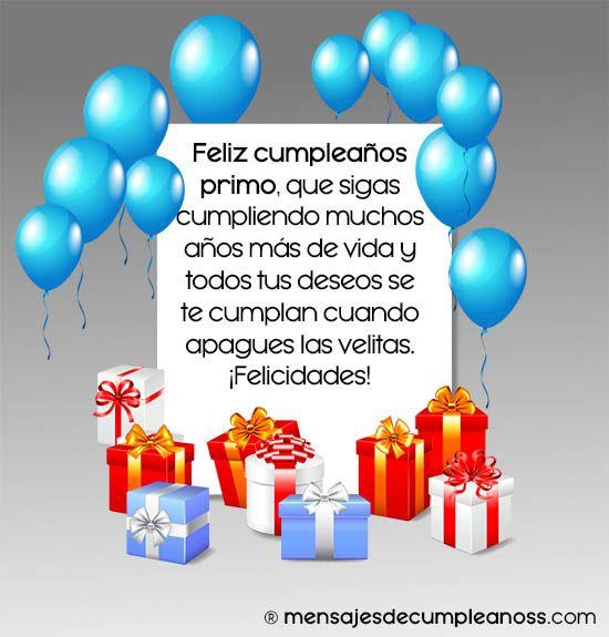felicitaciones cumpleaños primo