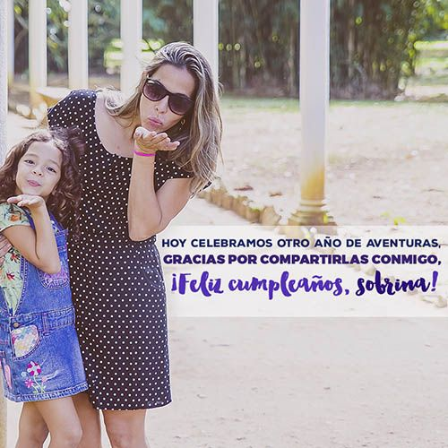 mensajes de cumpleaños para una sobrina