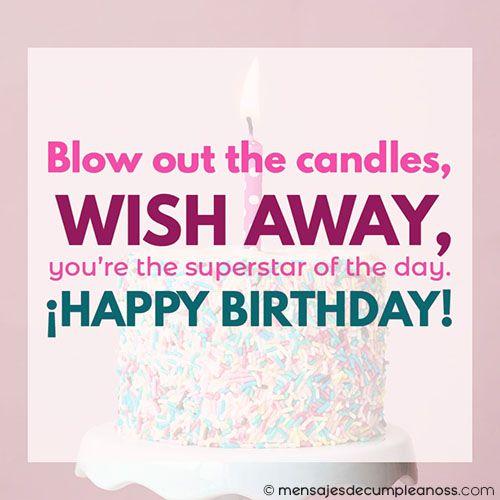 mensajes de cumpleaños en ingles